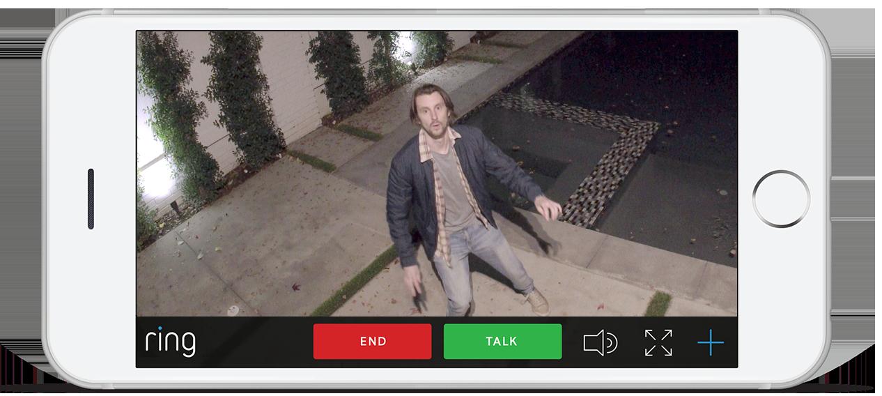 Application smartphone de Floodlight Cam