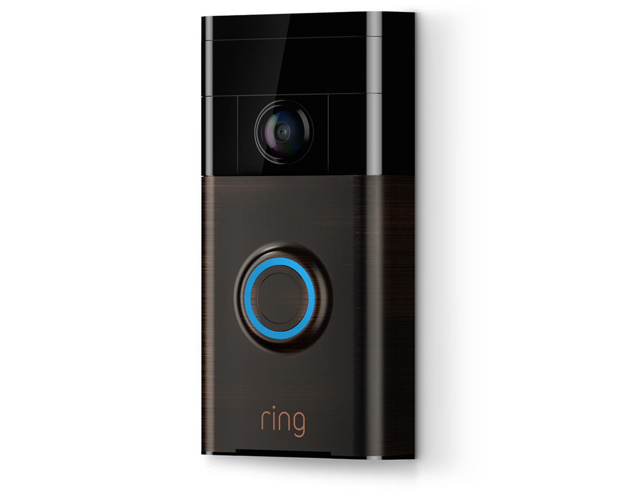 see hear and speak to visitors with ring video doorbell. Black Bedroom Furniture Sets. Home Design Ideas