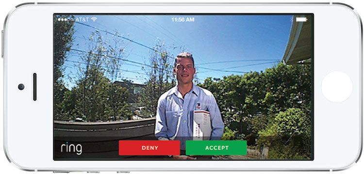 Answer the door from anywhere with your smartphone.